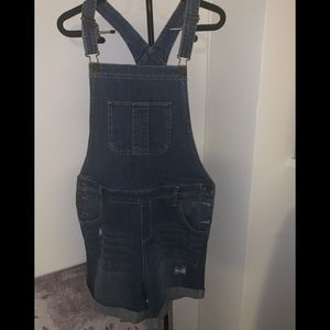 New York and Company denim shorts jumpsuit